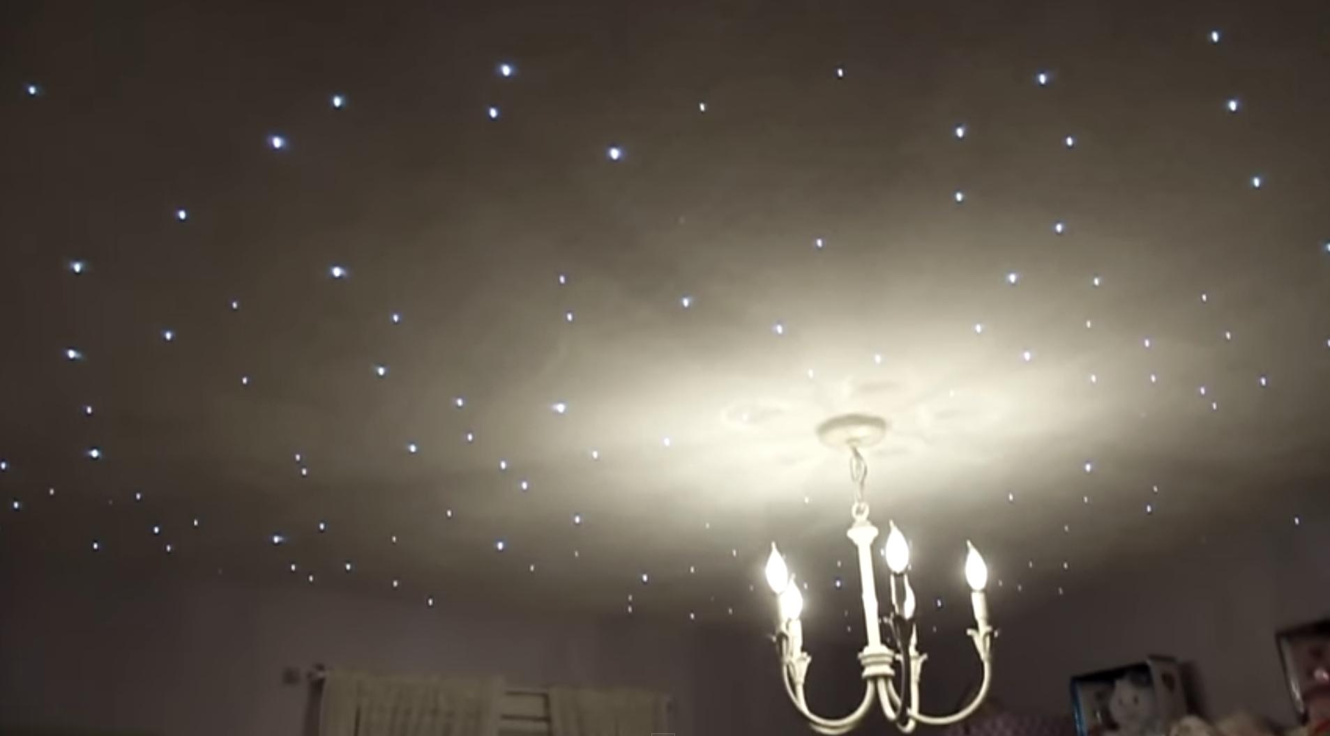Sterrenhemel Verlichting 250 Led Sterrenhemel maken in uw Plafond